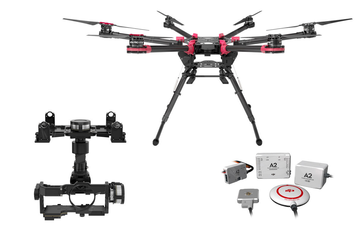 Гексакоптер DJI S900 + полетный контроллер A2 + подвес Z15-GH4
