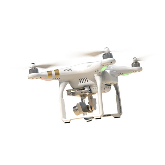 Квадрокоптер DJI Phantom 3 Professional с 3х-осевым подвесом, 4K камерой