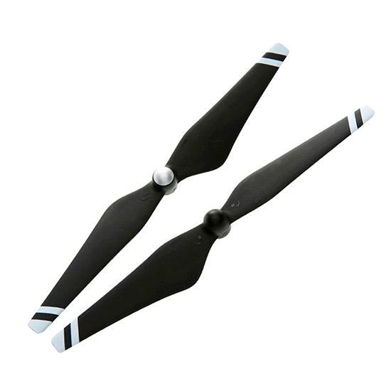 Карбоновые пропеллеры DJI 9450 (черный, белые полоски)