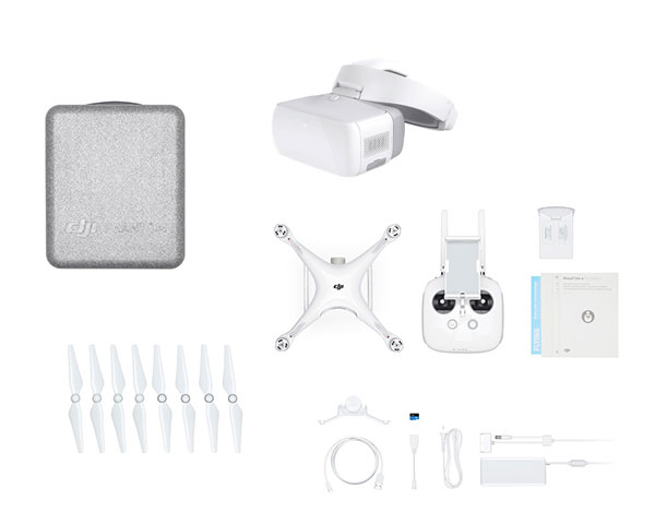 Квадрокоптер DJI Phantom 4 Pro V2.0 с 3-мя аккумуляторами и Goggles