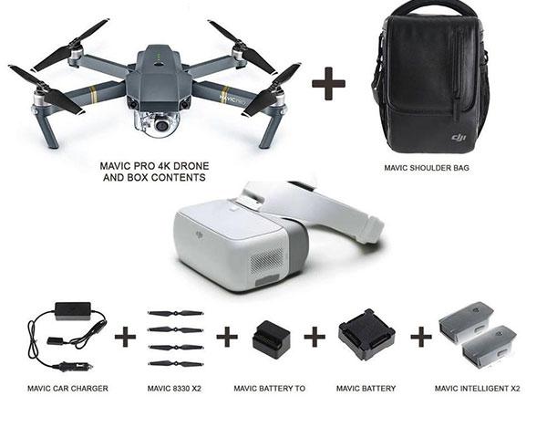 Квадрокоптер DJI Mavic Pro Fly More Combo и Goggles
