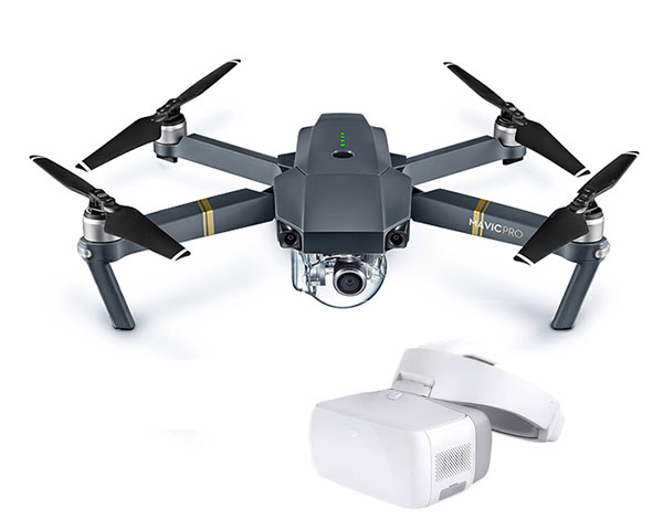 Квадрокоптер DJI Mavic Pro и видеоочки Goggles