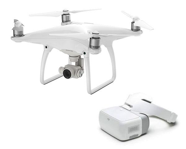 Квадрокоптер DJI Phantom 4 Advanced и видеоочки Goggles