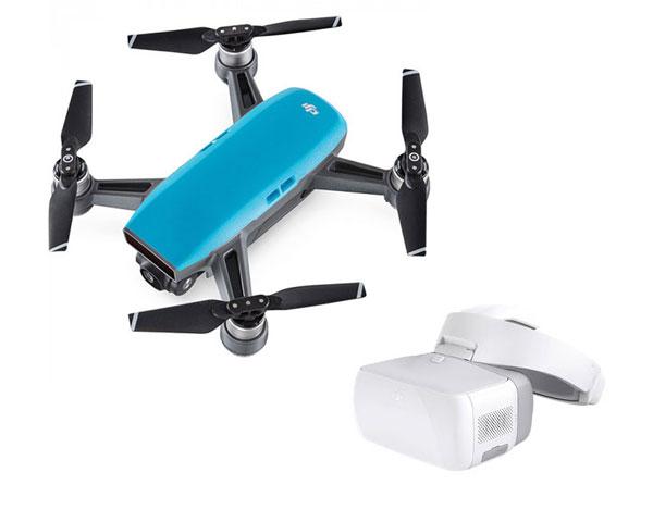 Квадрокоптер DJI Spark Combo (Sky Blue) и видеоочки Goggles