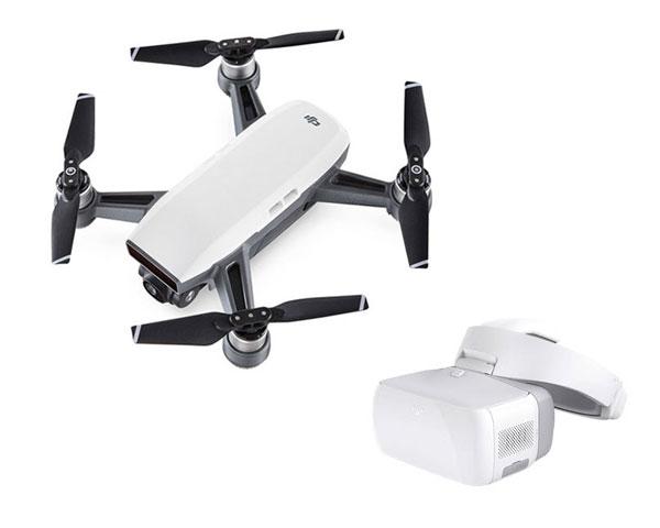 Квадрокоптер DJI Spark (Alpine White) и видеоочки Goggles