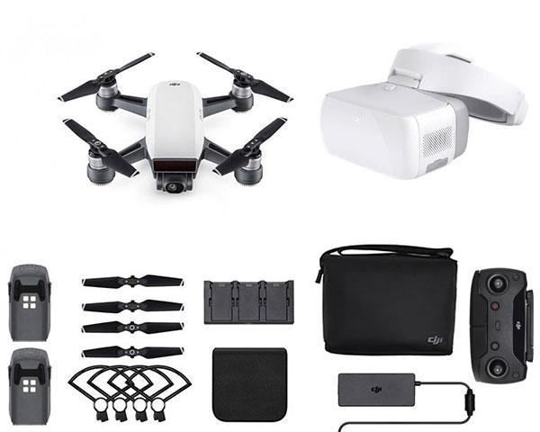 Квадрокоптер DJI Spark Combo (Alpine White) и видеоочки Goggles