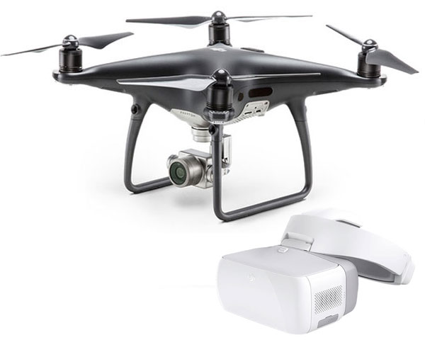 Квадрокоптер DJI Phantom 4 Pro Obsidian и видеоочки Goggles