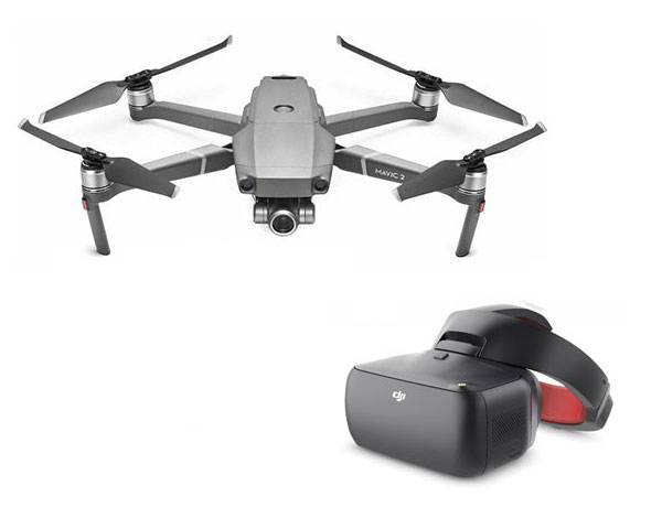 Квадрокоптер DJI Mavic 2 Zoom и очки DJI Goggles RE